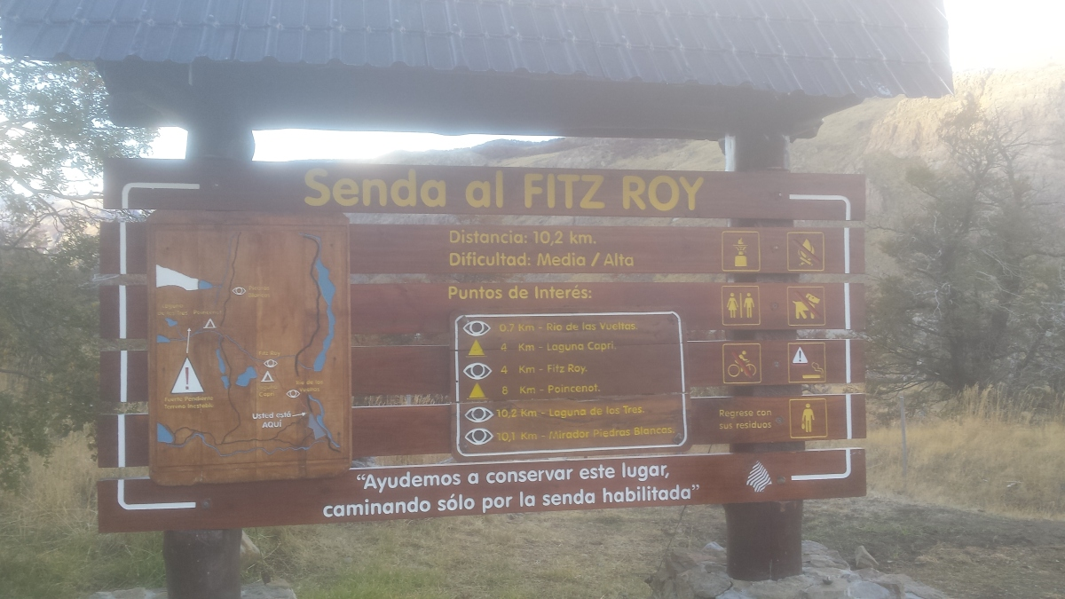 The information board at the start of the hikes