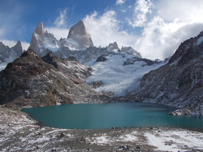 Laguna de los Tres and Mount Fitzroy in the background