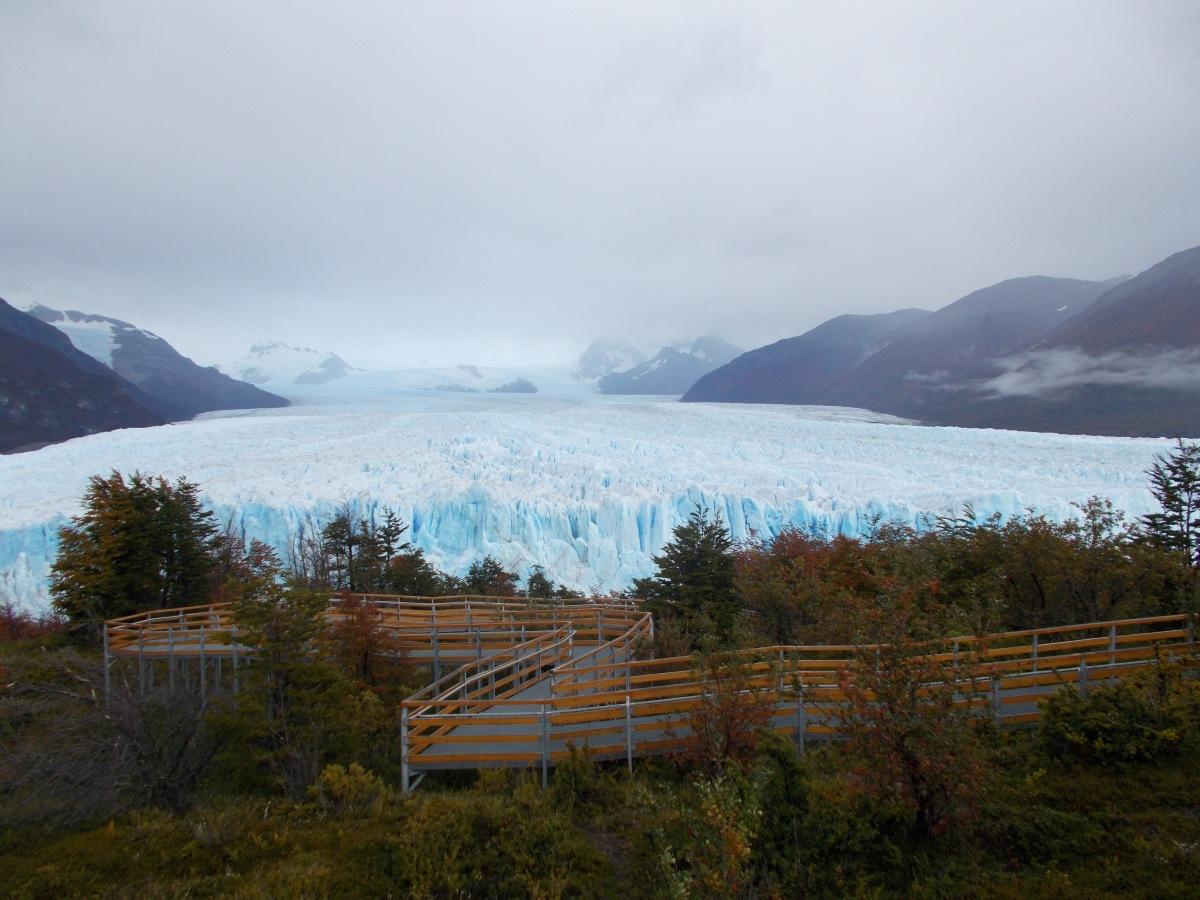 The walkways overlooking Perito Moreno Glacier