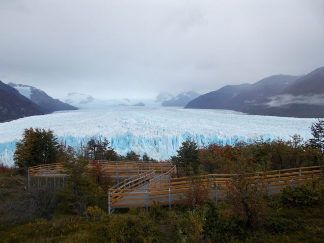 The walkways overlooking Perito Moreno Glacier